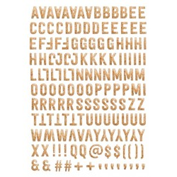 Alphabet Puffy Evalicious - Faux Cork