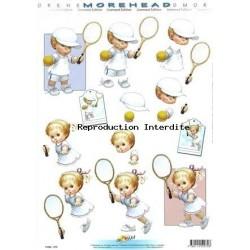 Image Carterie 3D - Petits joueurs de tennis