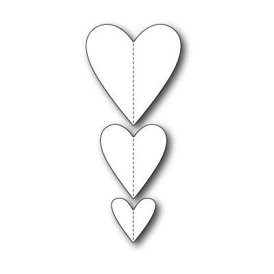 Die Memory Box - Stitched Heart Trio