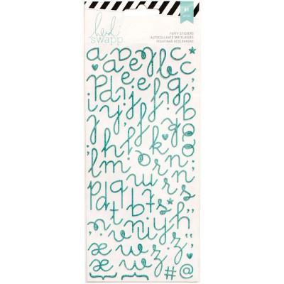 Alphabet Puffy pailleté Heidi Swapp - Turquoise