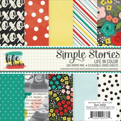 Mini Pack 15x15 - Simple Stories - Life in Color