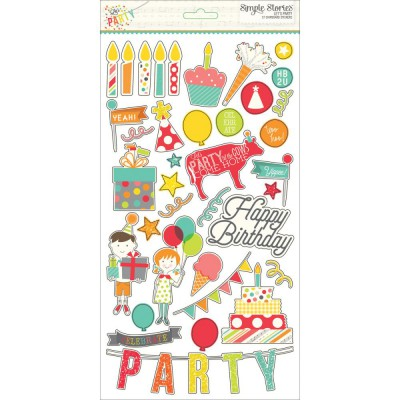 Stickers chipboards - Let's Party
