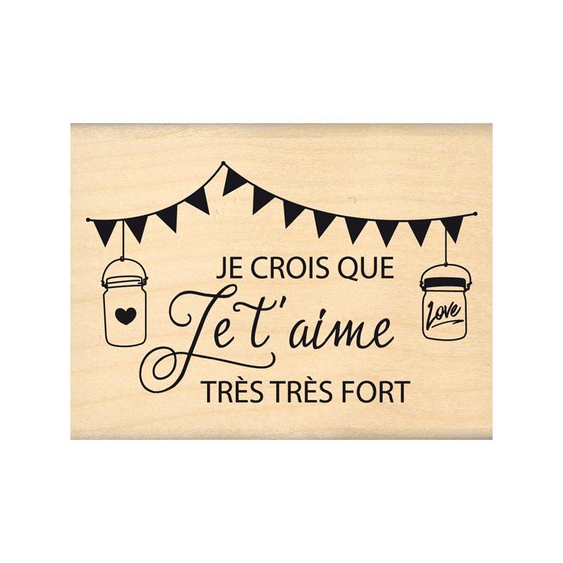 Tampon bois Florilèges - Je crois que je t'aime