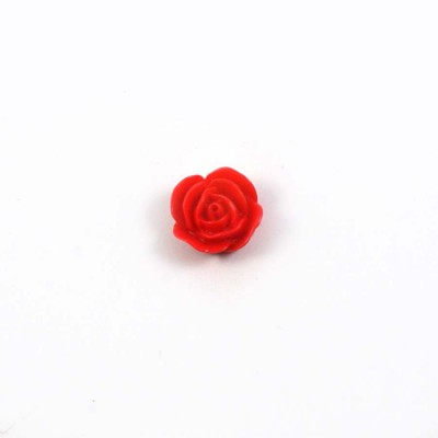 Rose en résine 15mm (lot de 20) - Rouge