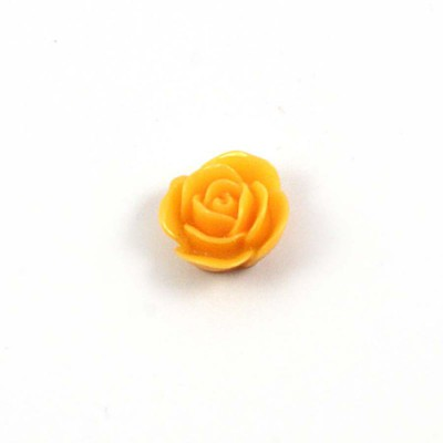 Rose en résine 15mm (lot de 20) - Jaune Moutarde