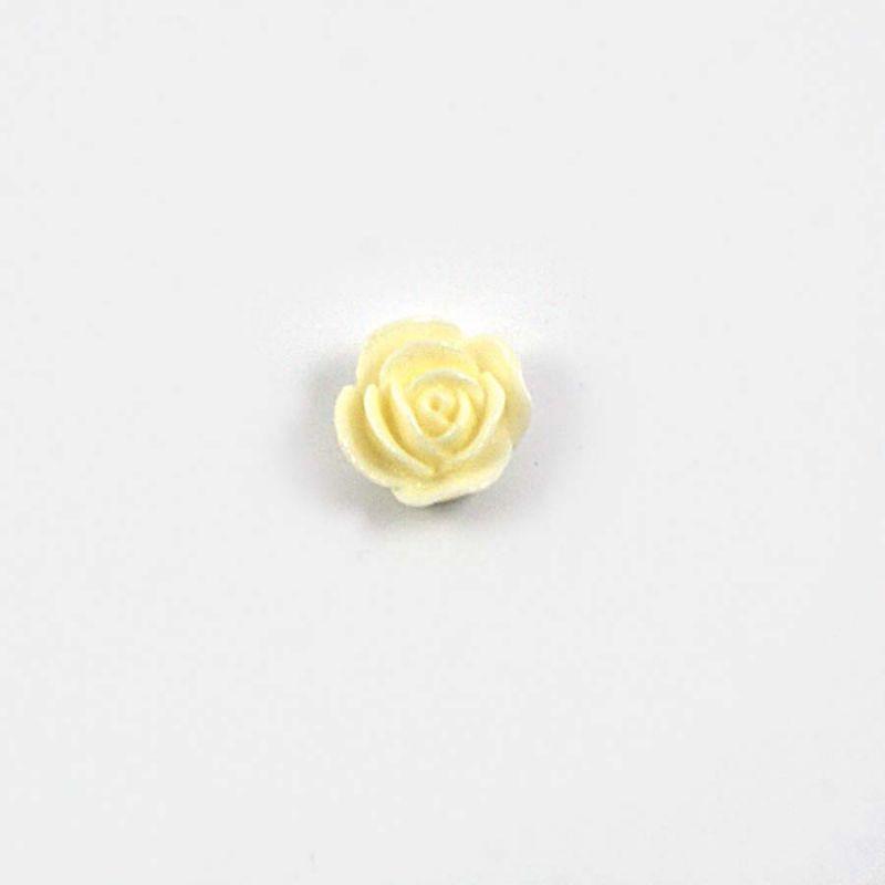 Rose en résine 15mm (lot de 20) - Crème