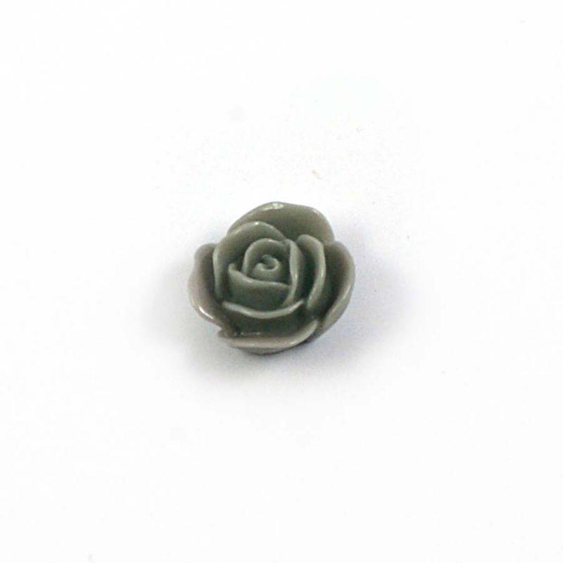 Rose en résine 15mm (lot de 20) - Gris