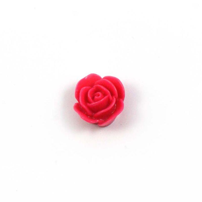 Rose en résine 15mm (lot de 20) - Rose Vif