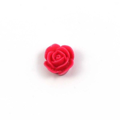 Rose en résine 15mm (lot de 20) - Rose Vif