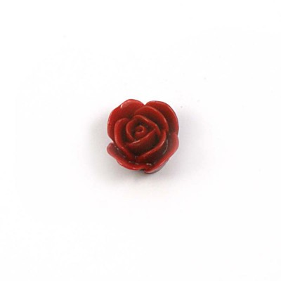 Rose en résine 15mm (lot de 20) - Bordeaux
