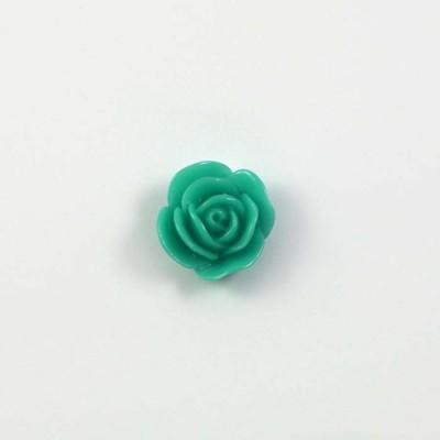 Rose en résine 15mm (lot de 20) - Vert menthe