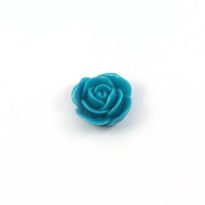 Rose en résine 15mm (lot de 20) - Turquoise foncé