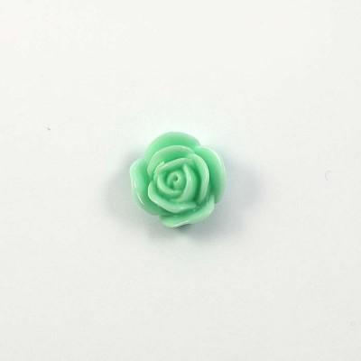 Rose en résine 15mm (lot de 20) - Vert d'eau