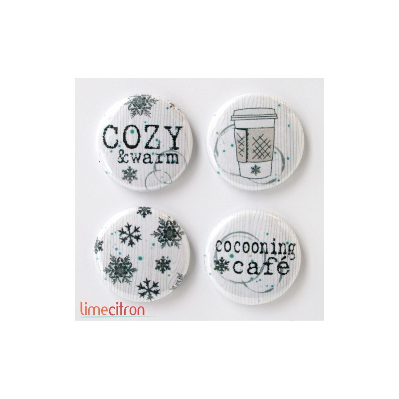 "Badges Lime Citron 1"" - Cosy"