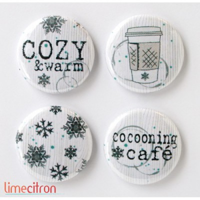 "Badges Lime Citron 1"" - Cosy"
