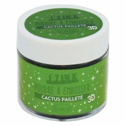 Poudre à embosser Izink pailletée - Cactus