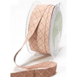 Ruban couture losanges - Marron clair