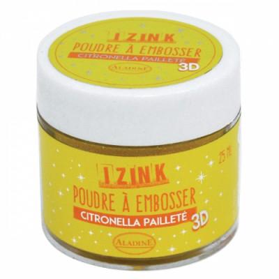 Poudre à embosser Izink pailletée - Citronella
