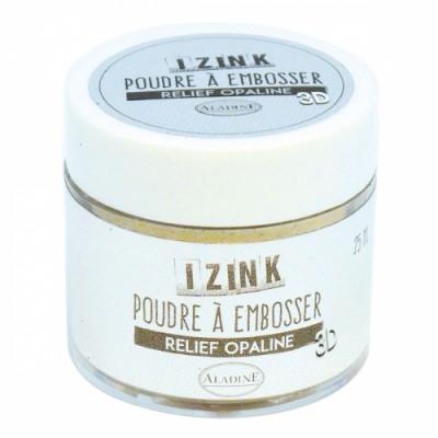Poudre à embosser Izink - Opaline (transparent nacré)