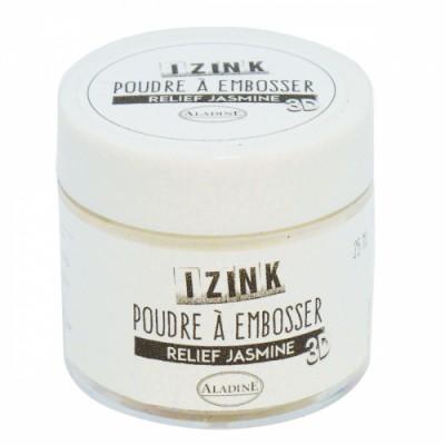 Poudre à embosser Izink - Jasmine (blanc)