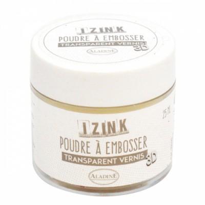 Poudre à embosser Izink - Transparent Vernis