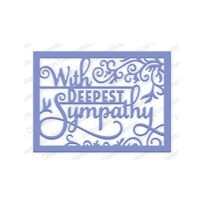 Die Impression Obsession - Deepest Sympathy Word Block