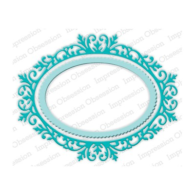 Die Impression Obsession - Ornate Oval Frame