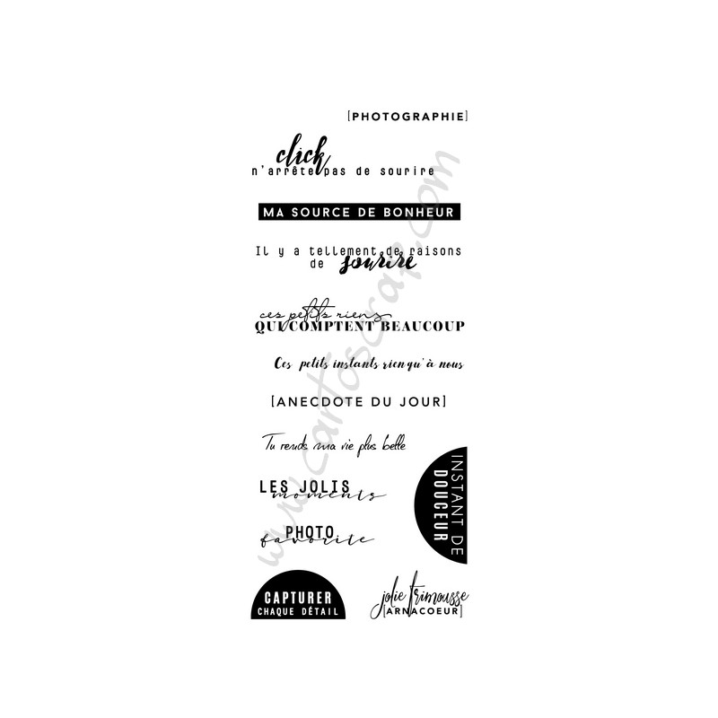 Tampons CartoScrap - Ma Source de Bonheur