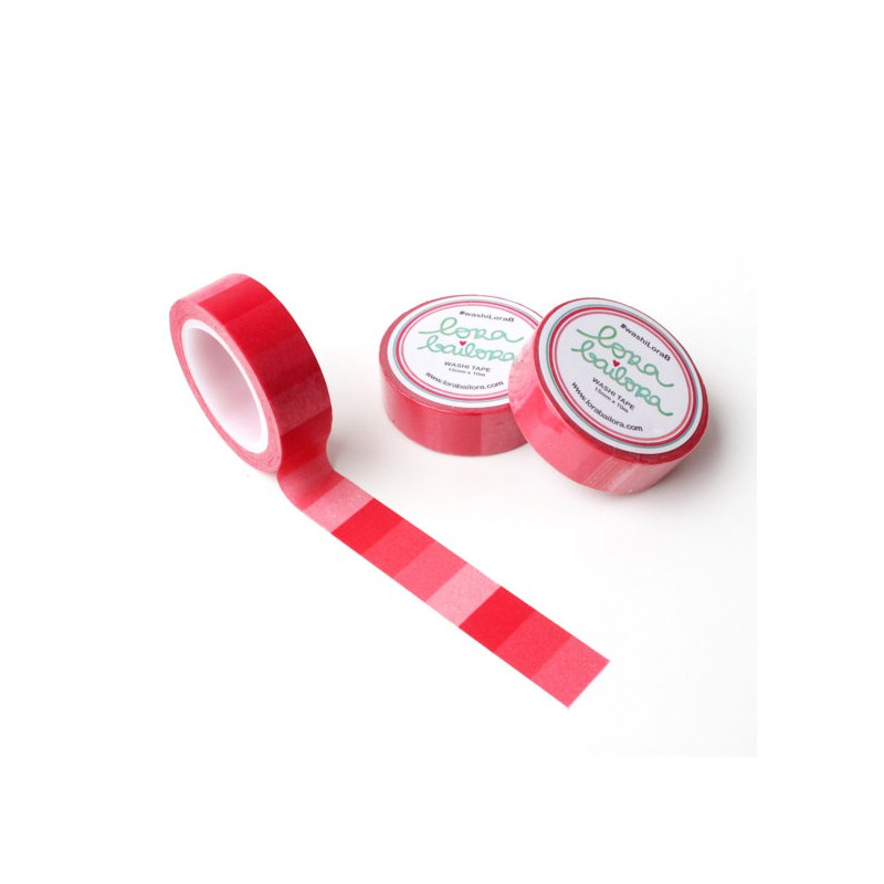 Washi Tape Lora Bailora - Dégradé rouge