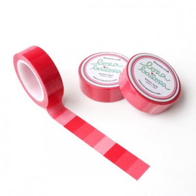 Washi Tape Lora Bailora - Dégradé rouge