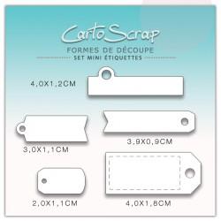 Dies CartoScrap - Set Mini Étiquettes
