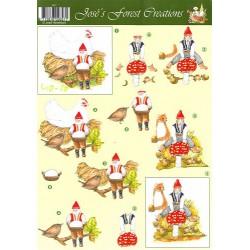 Image Carterie 3D - Lutins et poule/champignon