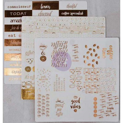 Stickers Washi Foil - Coffee Break 2