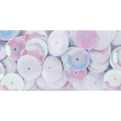 Sequins 8 mm - Blanc Irridescent