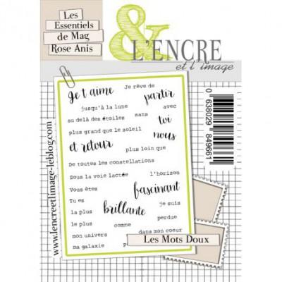 Tampons L'Encre & l'Image - Les Essentiels de Mag Rose Anis - Les Mots Doux
