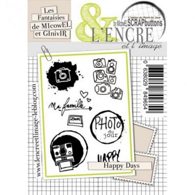 Tampons L'Encre & l'Image - Les Fantaisies de MIcowEL et GInivIR - Happy Days