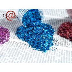 Glitter 13@rts - Hexagones holographiques Bleu