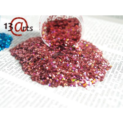 Glitter 13@rts - Hexagones holographiques Pink