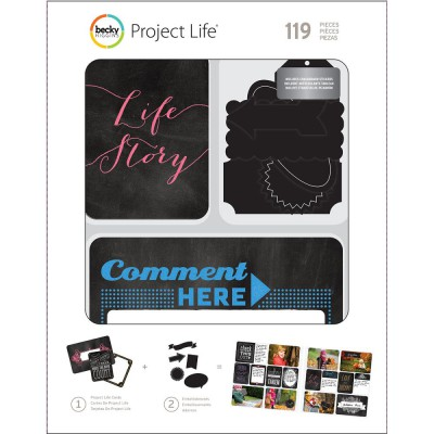 Kit Cartes & Embellissements Project Life - Chalk