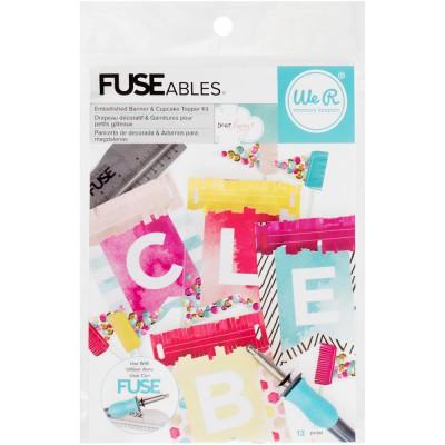 Kit FUSEables - Fanions décorés & Garnitures pour gâteaux