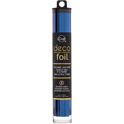 Deco Foil - Feuilles transfert métallisées - Bleu Profond