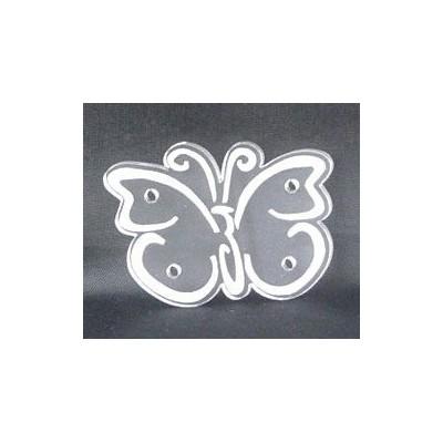 Sujet en plexiglas - Papillon gravé