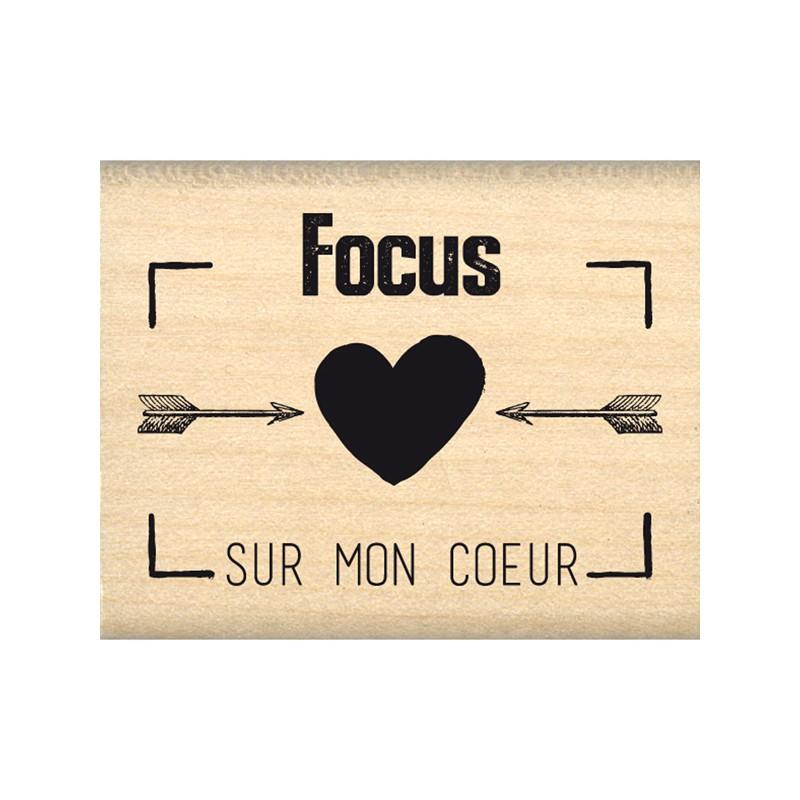 Tampon bois Florilèges - Focus sur mon Coeur