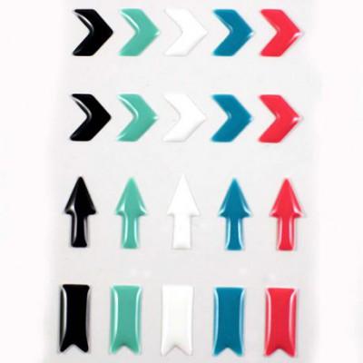 Stickers Enamel Chevrons - Noir Vert Blanc Bleu Rose