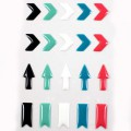 Stickers Enamal Chevrons - Noir Vert Blanc Bleu Rose