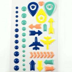 Stickers Enamel Voyage