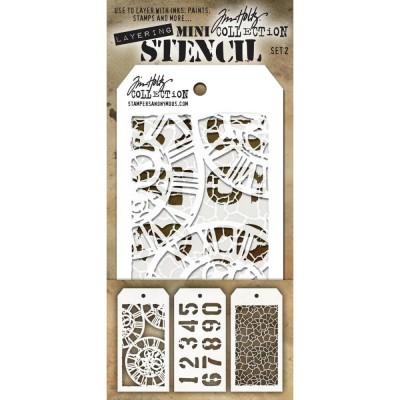 Mini Layered Stencil Tim Holtz - Set 2