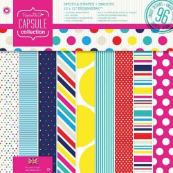 Pack 30x30 - Papermania - Capsule Collection - Spots & Stripes Brights
