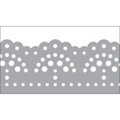 Foil Tape - Silver Doily 25mm