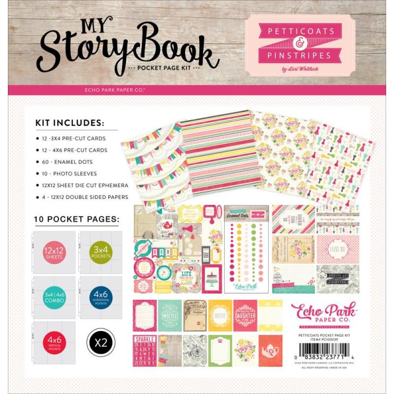 Pack 30x30 - Echo Park - My StoryBook - Petticoats & Pinstripes Girl
